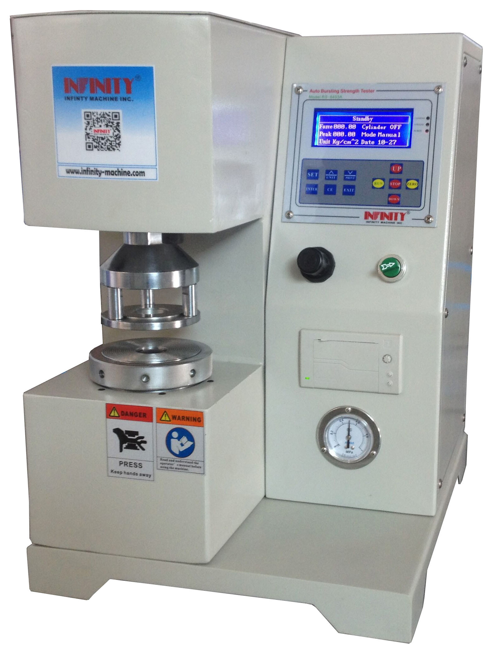 Electrical Package Testing Equipment Digital Bursting Strength Tester For Paper